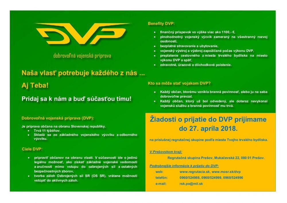 Oznam DVP - RSk PO