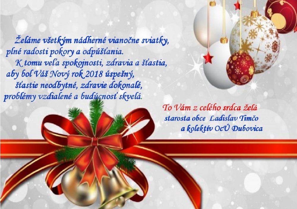 Vianočný pozdrav
